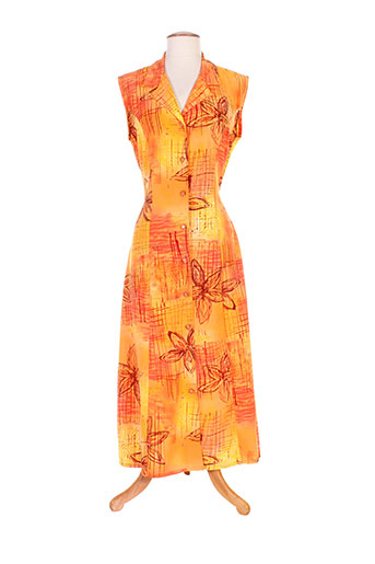 20 et 20 robes et longues femme de couleur orange (photo)