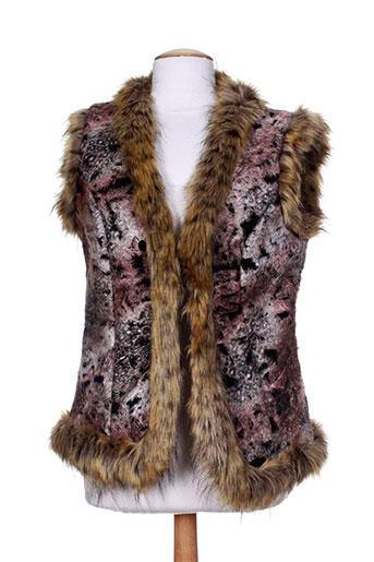 rino EFFI_CHAR_1 pelle vestes femme de couleur marron