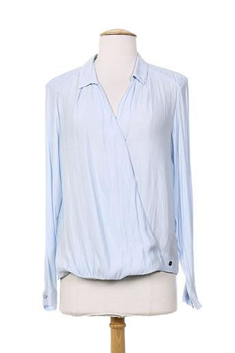 ikks blouses femme de couleur bleu