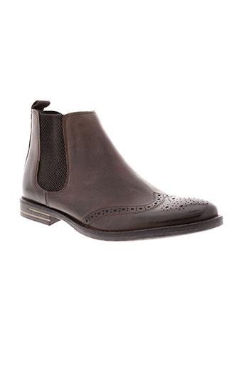 base et london boots homme de couleur marron
