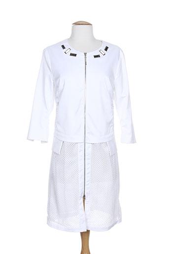 sportalm manteaux femme de couleur blanc