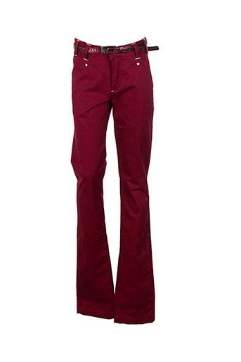 bisou d'eve pantalons fille de couleur rouge