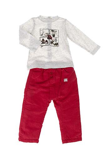 3 et pommes t et shirt et pantalon fille de couleur rouge (photo)
