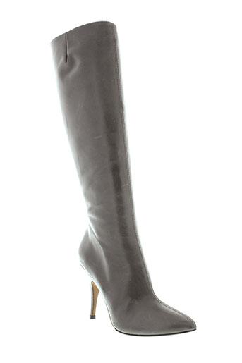 pura et lopez bottes femme de couleur gris