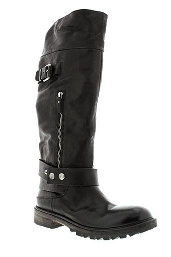 oxs bottes femme de couleur noir