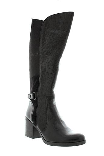 cressy bottes femme de couleur noir