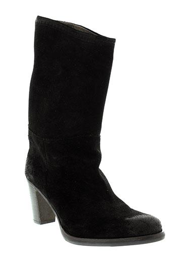 minka et design bottines femme de couleur noir