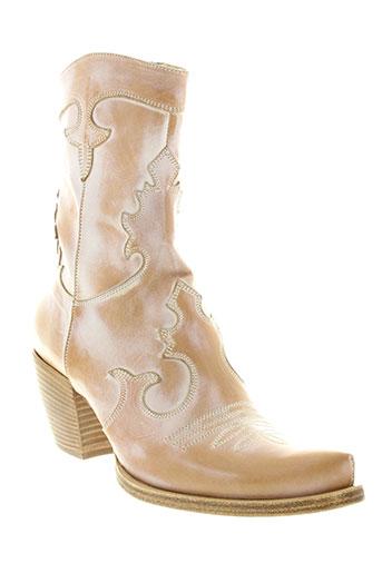 r et renzi boots femme de couleur beige