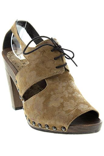 ippon et styl sandales et nu et pieds femme de couleur marron