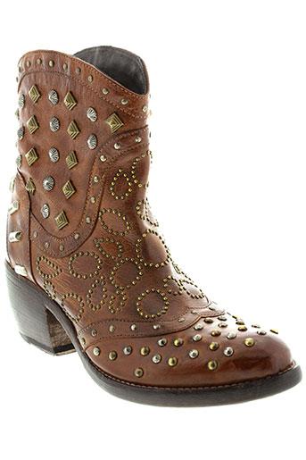 la et bottega et di et lisa boots femme de couleur marron