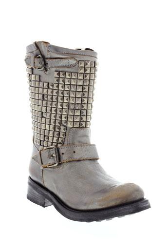 ash bottes femme de couleur gris