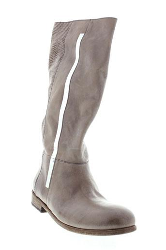 oxs bottes femme de couleur beige