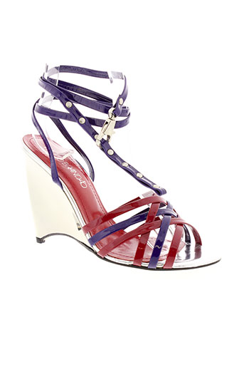 paulo brandao chaussures femme de couleur rouge