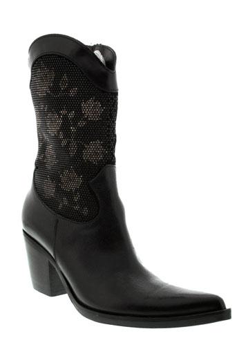 donna et piu bottines femme de couleur noir