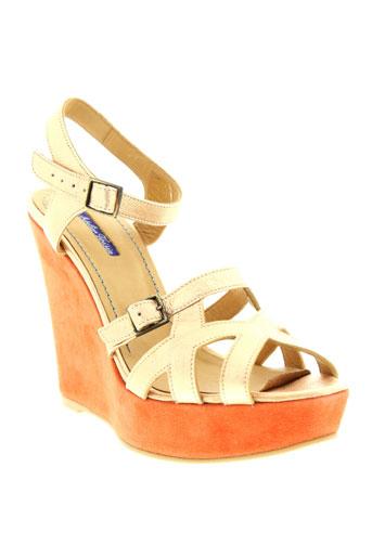 atelier et voisin sandales et nu et pieds femme de couleur orange