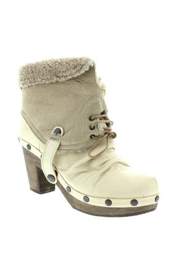 mosquitos boots femme de couleur beige
