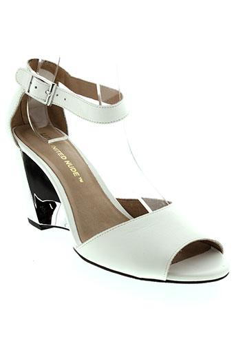 united et nude sandales et nu et pieds femme de couleur blanc