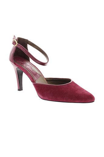 ippon et styl escarpins femme de couleur rouge