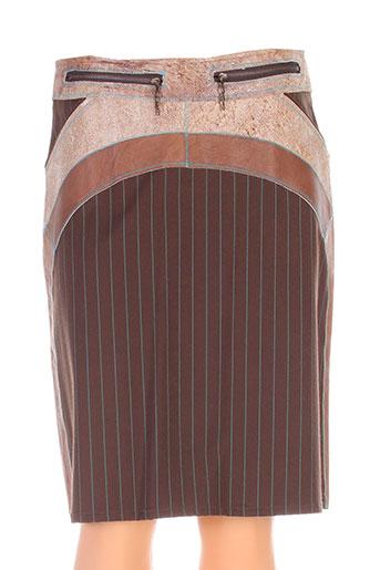 legatte jupes femme de couleur marron