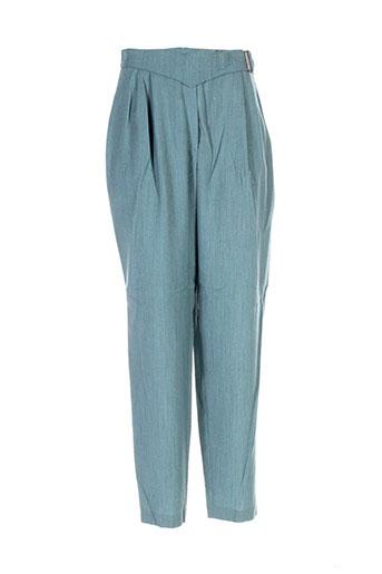 dino valiano pantalons femme de couleur bleu