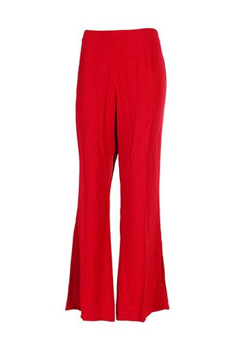 caroline biss pantalons femme de couleur rouge