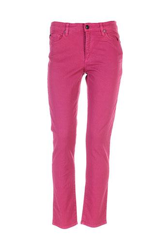 ernest pantalons femme de couleur rose