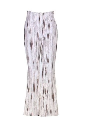 dino valiano pantalons femme de couleur blanc