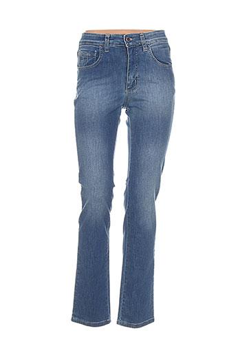 waltron jeans femme de couleur bleu