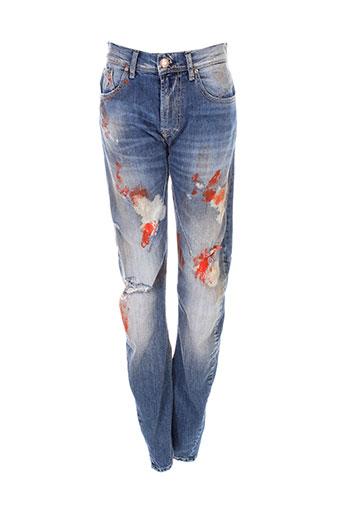 imperial jeans femme de couleur bleu
