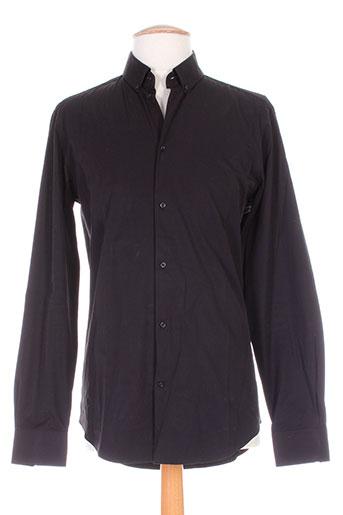 chrom men chemises homme de couleur noir