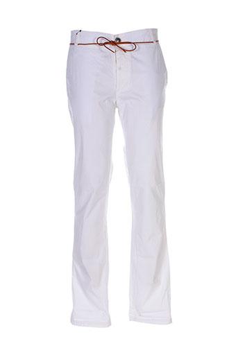 homecore pantalons homme de couleur blanc