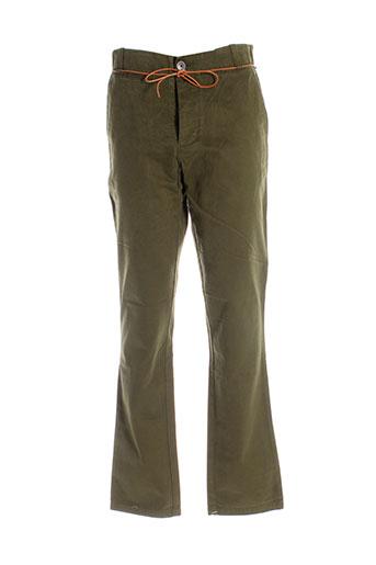 homecore pantalons homme de couleur vert