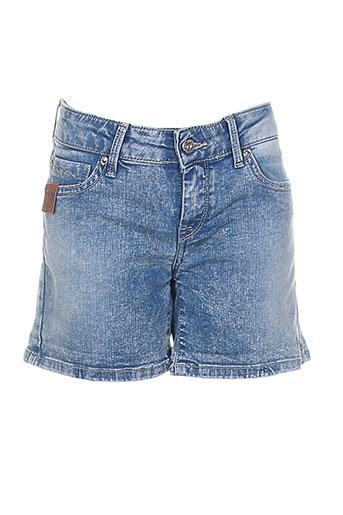 pepe jeans shorts / bermudas fille de couleur bleu
