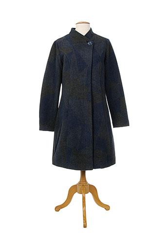 surkana manteaux femme de couleur bleu