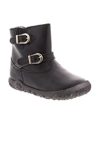 noel boots fille de couleur noir