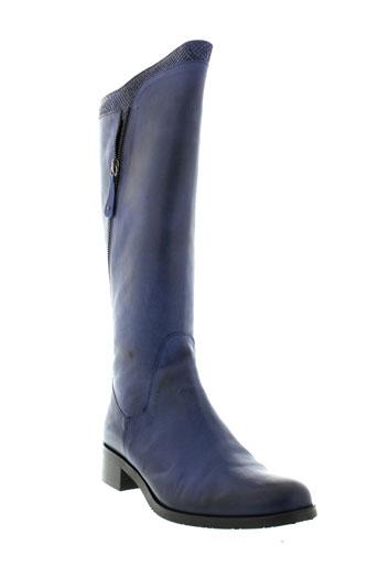 pinto et di et blu bottes femme de couleur bleu
