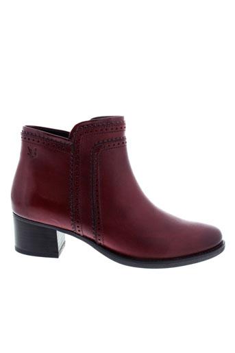 caprice boots femme de couleur rouge