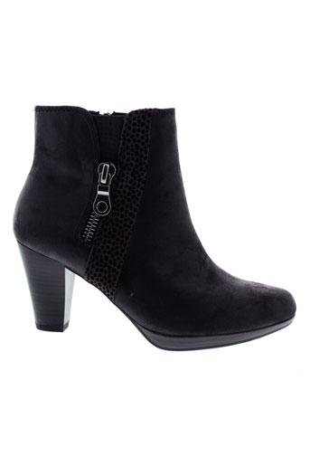 marco et tozzi bottines femme de couleur noir