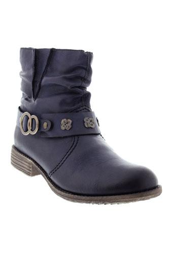 rieker chaussures femme de couleur bleu
