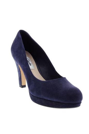 clarks escarpins femme de couleur bleu