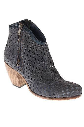 b confiture chaussures femme de couleur bleu
