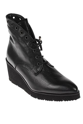pedro et miralles boots femme de couleur noir