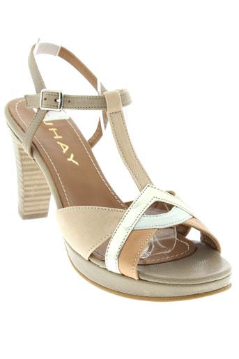 jhay sandales et nu et pieds femme de couleur beige