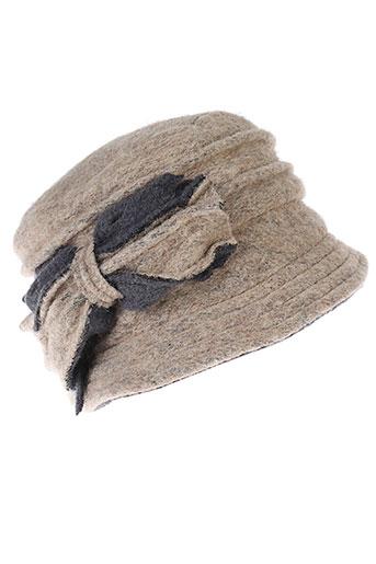 angiolo et frasconi chapeaux et bonnets femme de couleur beige
