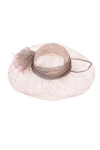 camalya chapeaux et bonnets femme de couleur beige