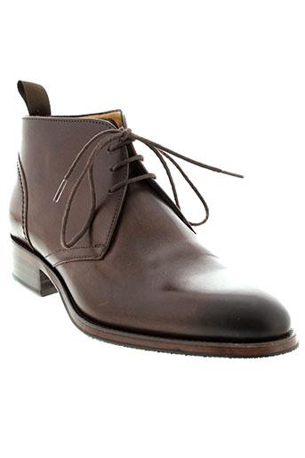 serge et blanco boots homme de couleur marron