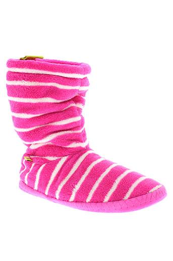 joules pantoufle femme de couleur rose