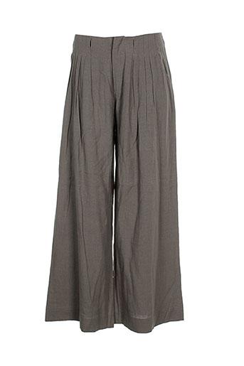 bohemia pantalons femme de couleur marron