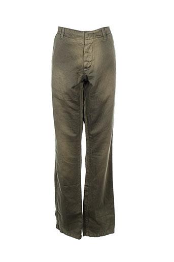 ikks pantalons homme de couleur vert