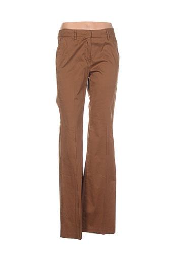 benetton pantalons femme de couleur marron